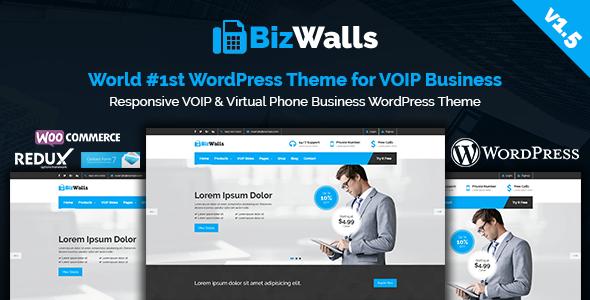 Image of BizWalls | Responsive VOIP & Virtual Phone Business WordPress Theme