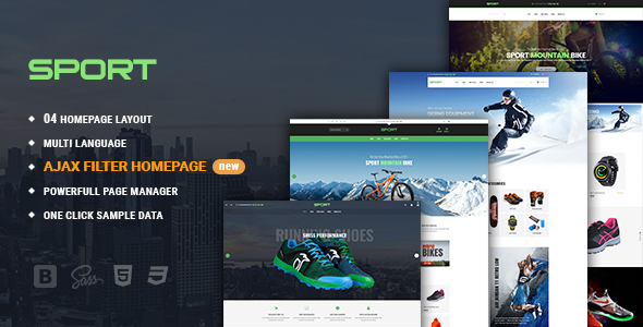 ThemeForest Sport Facilitate Responsive PrestaShop 1.7 Theme For Sportswear 21057122