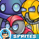 Robo  Monsters Game Enemies Sprites - GraphicRiver Item for Sale