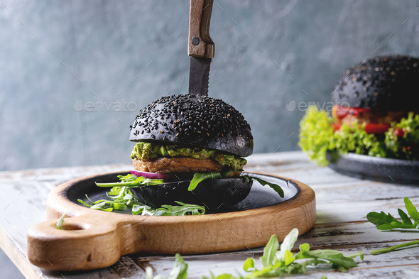 Homemade meat burger - Stock Photo - Images