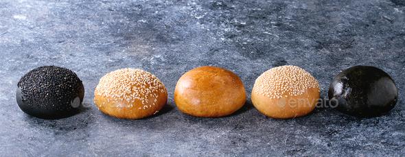 Set of burger buns - Stock Photo - Images