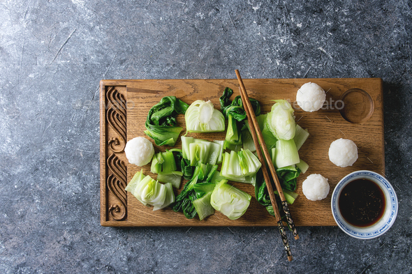 Bok choy with rice - Stock Photo - Images