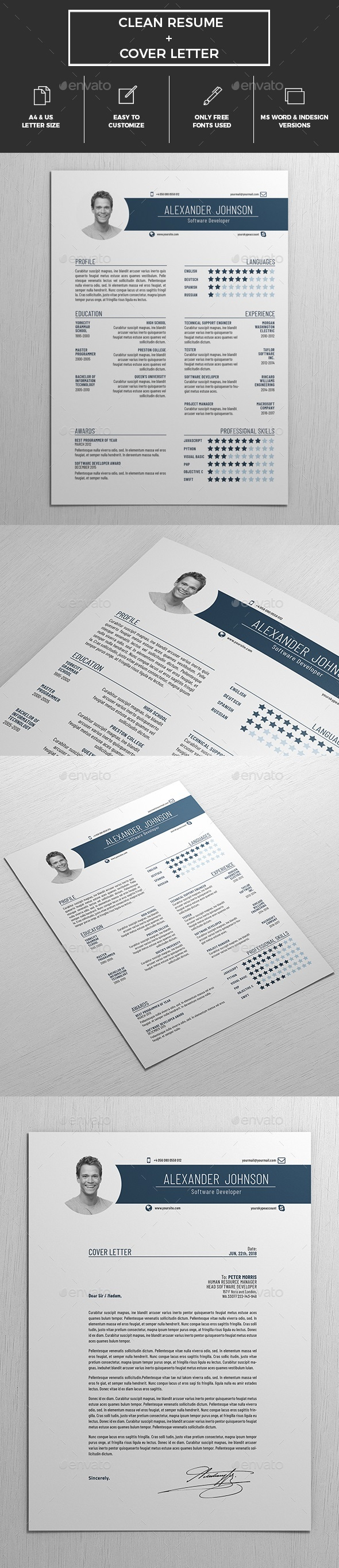 Resume Template / CV - Resumes Stationery