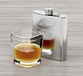 Hip flask and a glass of brandy - PhotoDune Item for Sale