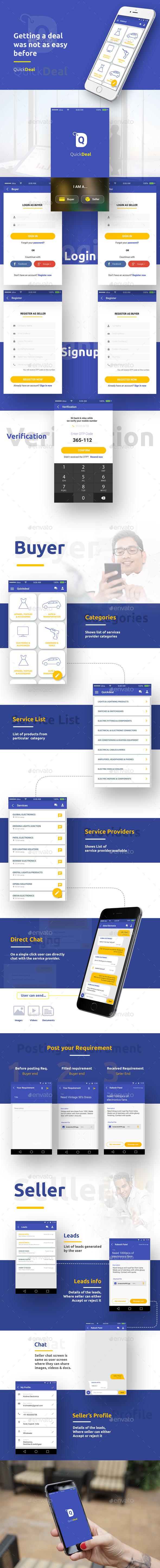 Seller and Buyer Dealing Platform - User Interfaces Web Elements