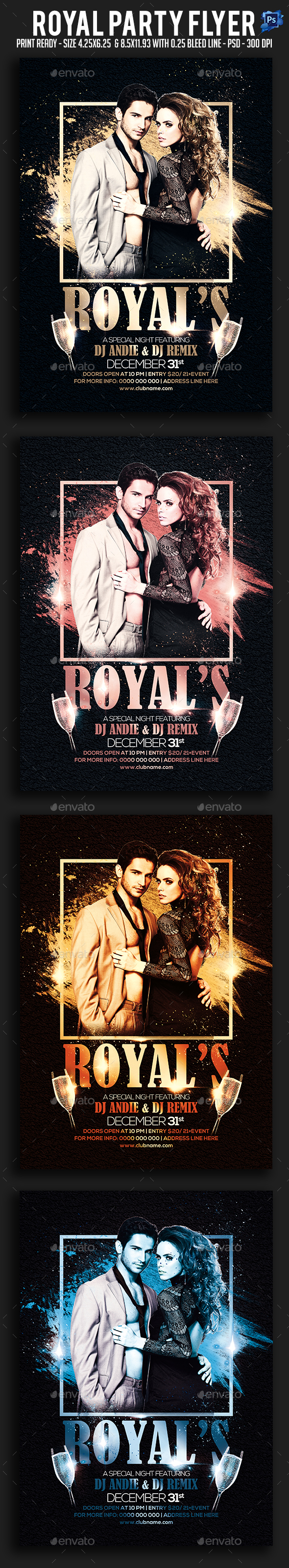 GraphicRiver Royal Party Flyer 21058190