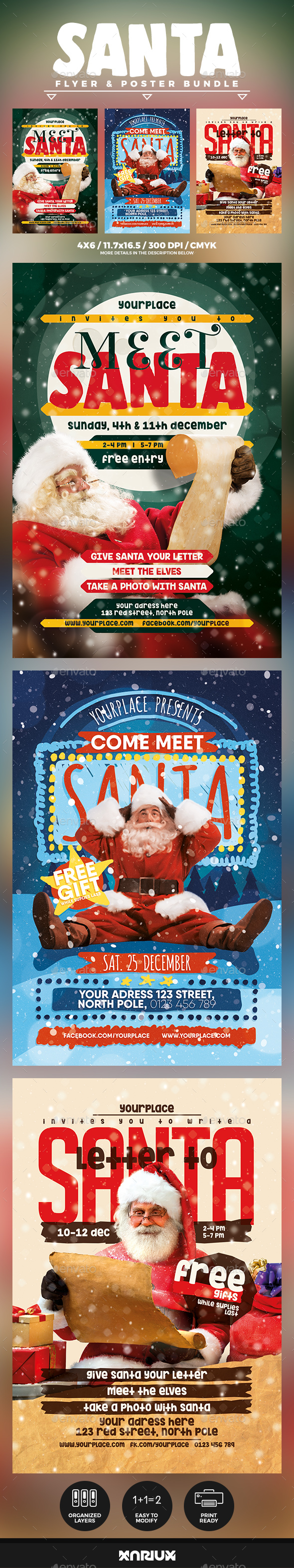 GraphicRiver Meet Santa Flyer & Poster Bundle 21058209