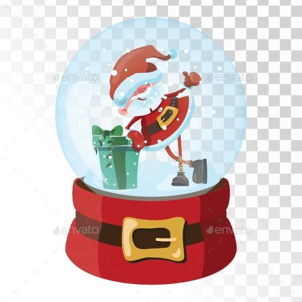 GraphicRiver Christmas Glass Magic Ball with Santa Claus 21058216