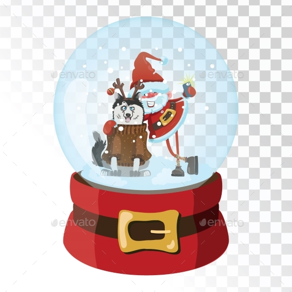 Christmas Glass Magic Ball with Santa Claus - Seasons/Holidays Conceptual