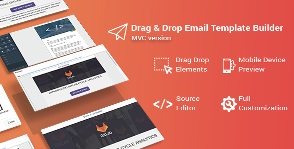 Drag & Drop Email Template Builder for .NET MVC