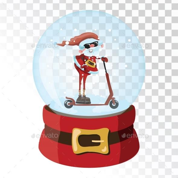 GraphicRiver Christmas Glass Magic Ball with Santa Claus 21058221