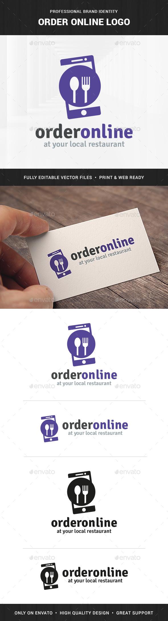 Order Online Food Logo - Food Logo Templates