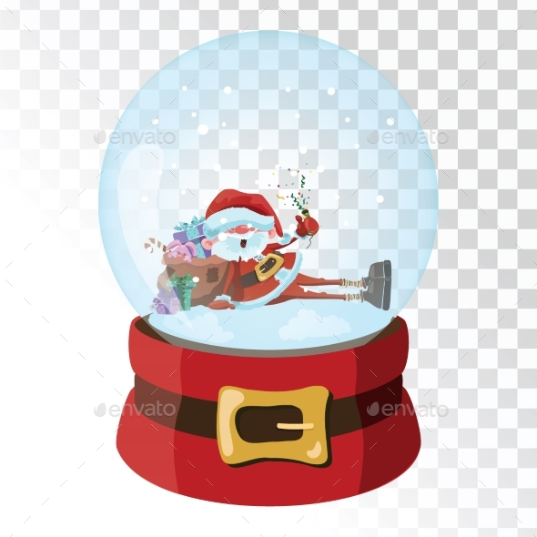 GraphicRiver Christmas Glass Magic Ball with Santa Claus 21058227