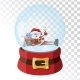 Christmas Glass Magic Ball with Santa Claus - GraphicRiver Item for Sale