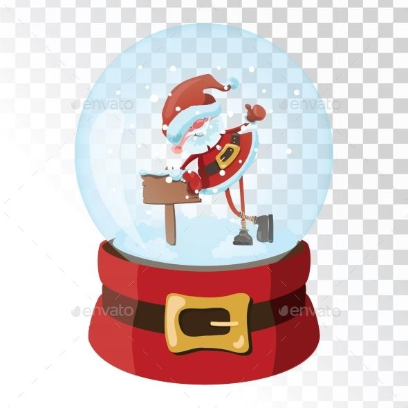 GraphicRiver Christmas Glass Magic Ball with Santa Claus 21058228