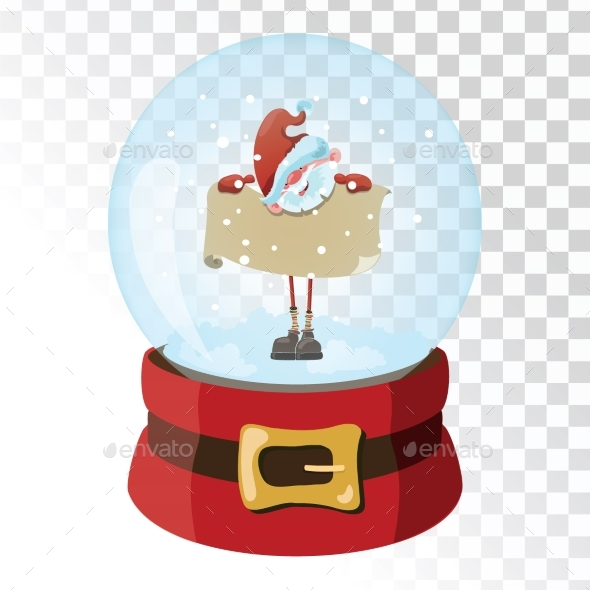 GraphicRiver Christmas Glass Magic Ball with Santa Claus 21058235