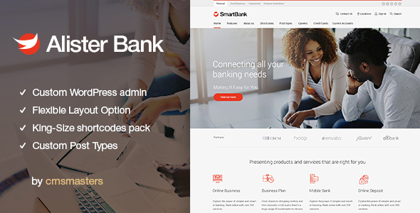 Alister Bank - Credits & Banking Finance WordPress Theme