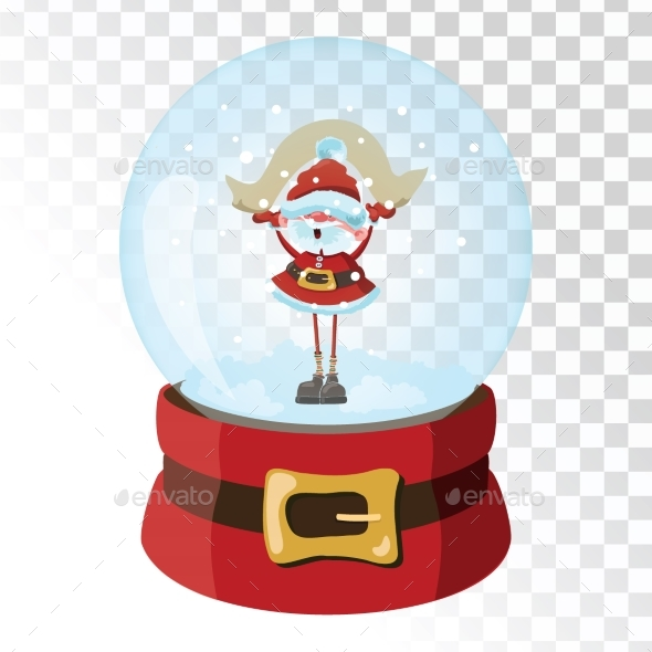GraphicRiver Christmas Glass Magic Ball with Santa Claus 21058238