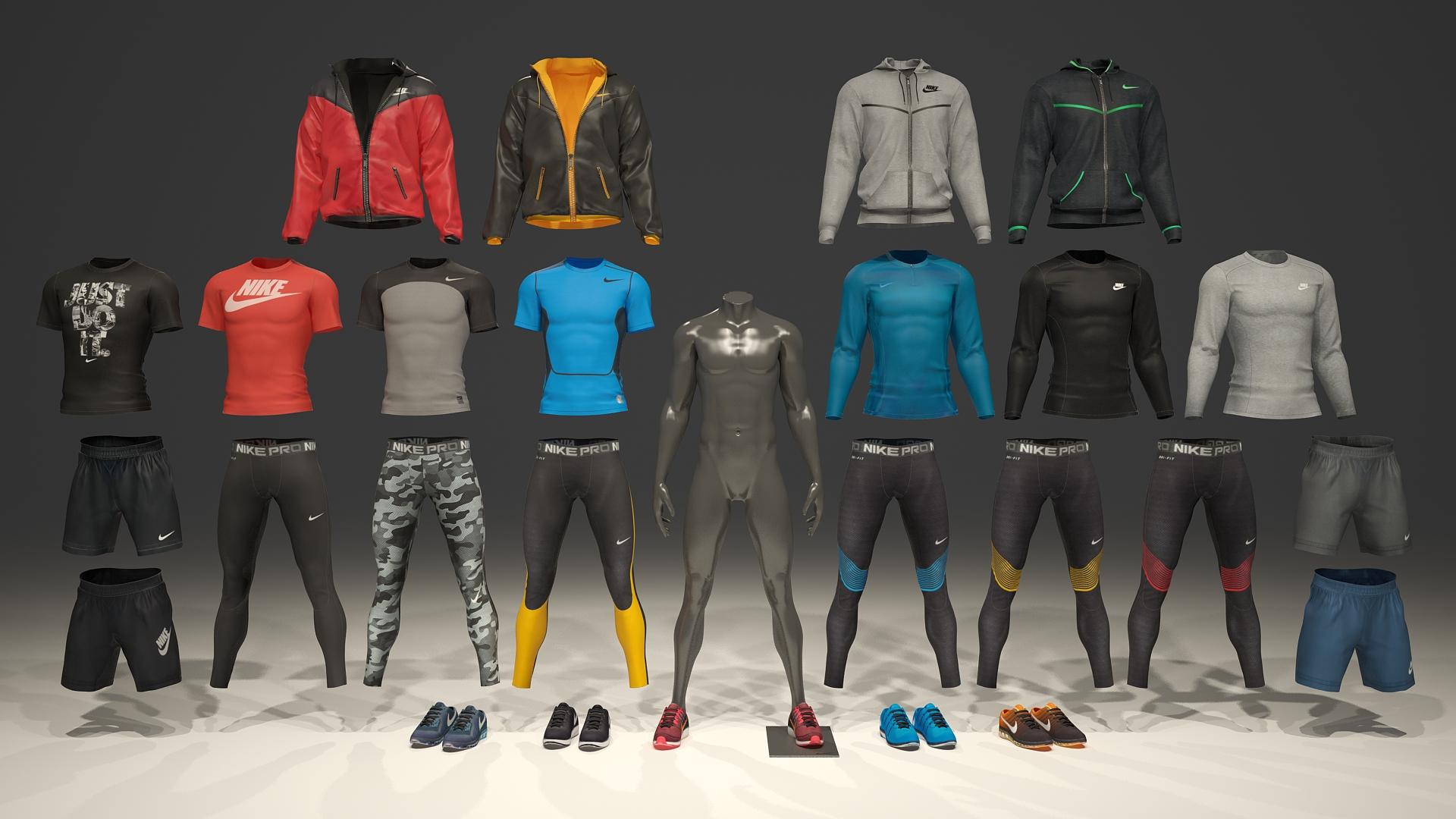 Male mannequin Nike pack 2 3D model