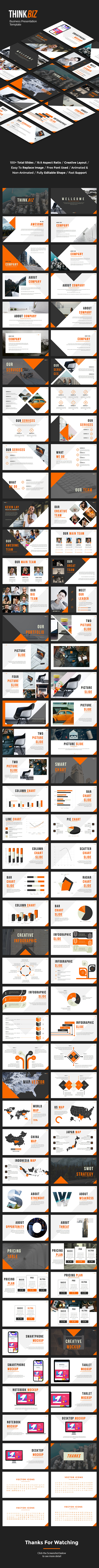 ThinkBiz - Business PowerPoint Template - Business PowerPoint Templates