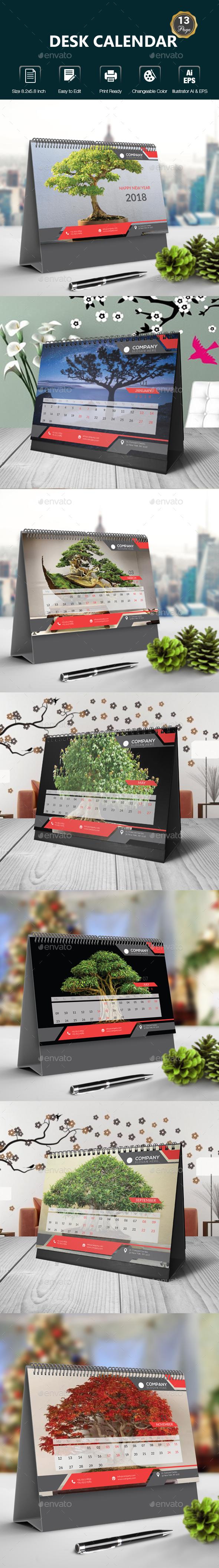 Desk Calendar - Calendars Stationery