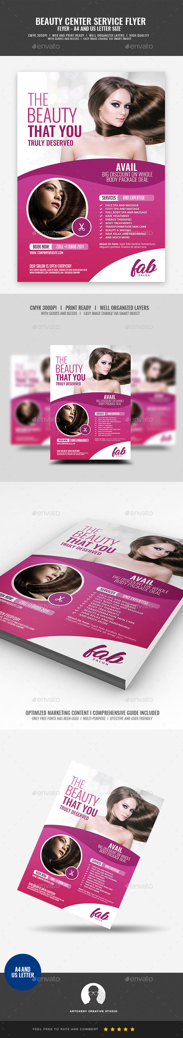 Spa and Beauty Center - Corporate Flyers