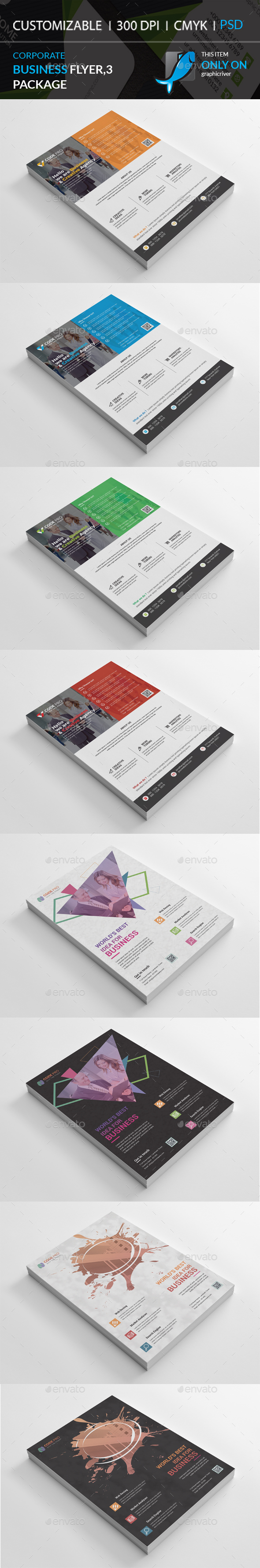 GraphicRiver Business Flyers 3 Package 21058458
