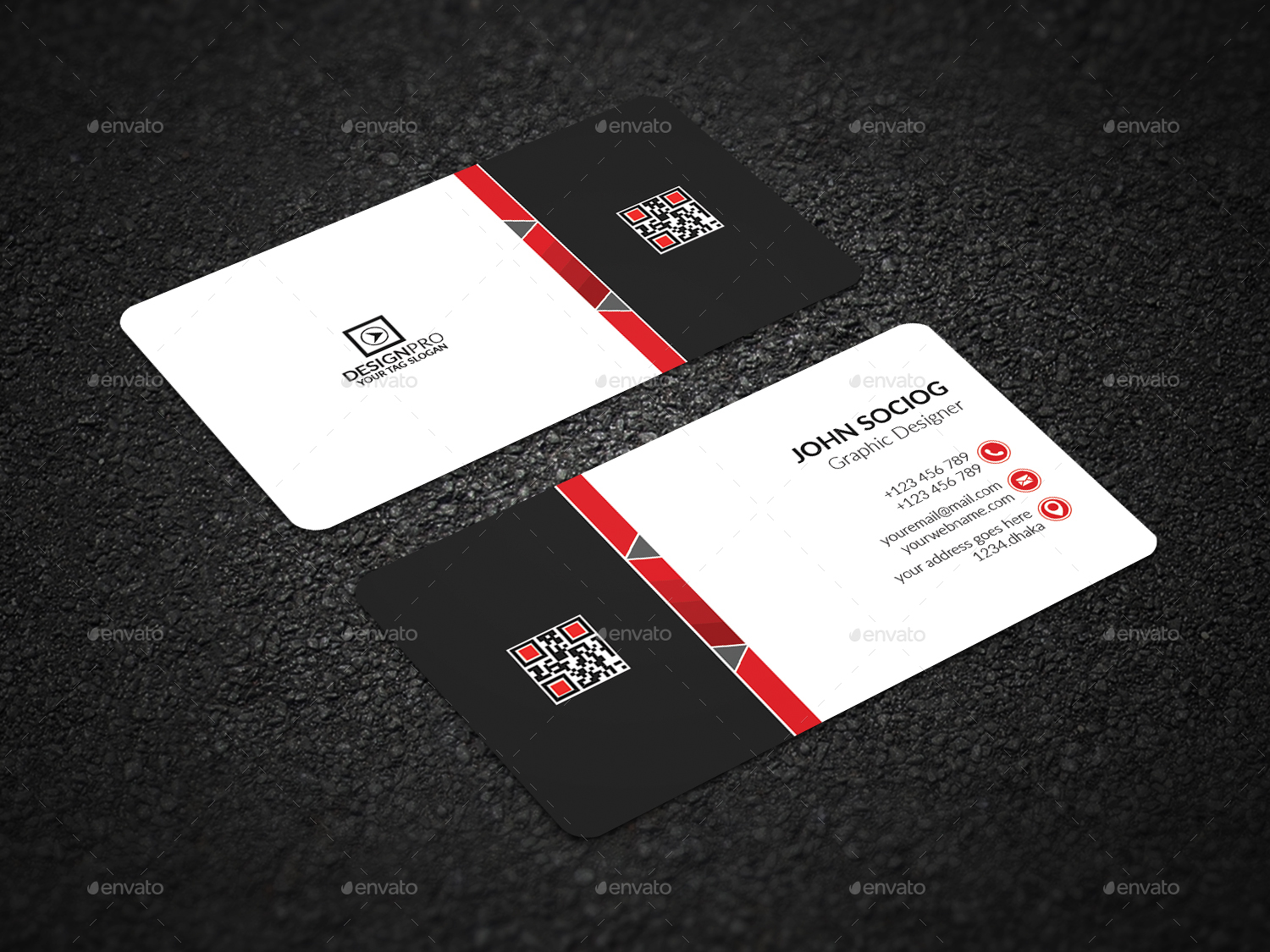 Corporate business card by aidesign graphicriver corporate business cards preview image set 1g magicingreecefo Choice Image