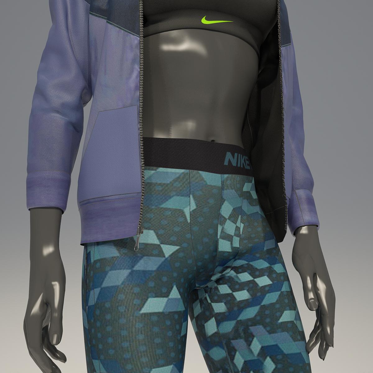 Female Mannequin Nike Pack 2 3d Model By Mrgarret 3docean