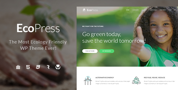 Eco Press - Nature, Ecology & NGO WordPress Theme - Environmental Nonprofit