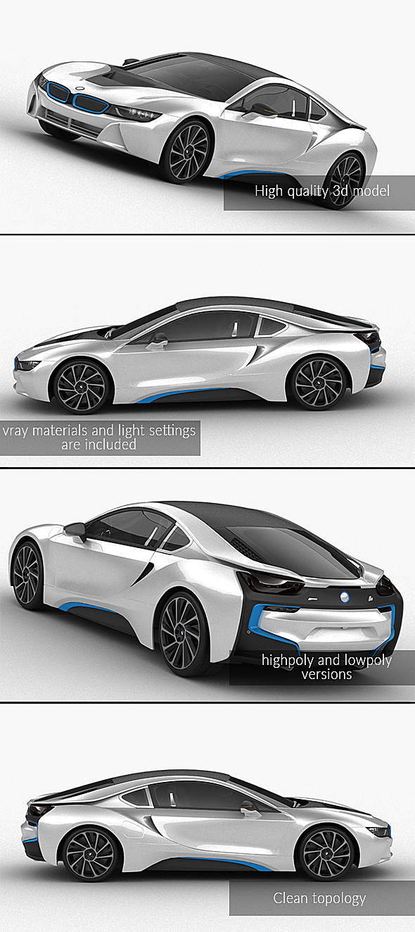 3DOcean BMW i8 21058995