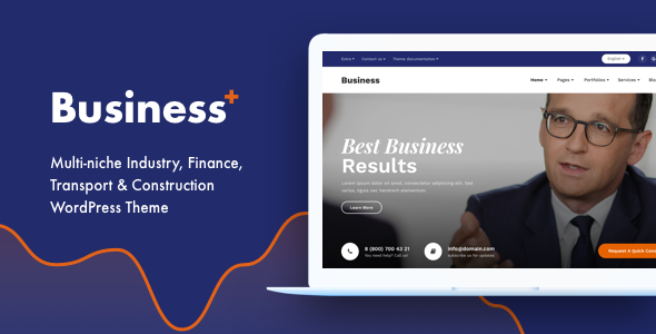 Business Plus - Multi-niche Industry, Finance, Transport & Construction WordPress Theme