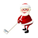 3D Illustration of Santa Claus Golfer - GraphicRiver Item for Sale