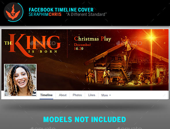 The King Is Born Christmas Facebook Timeline Template - Facebook Timeline Covers Social Media