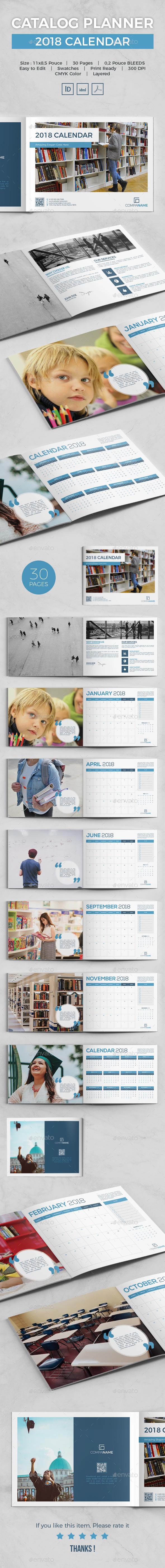 GraphicRiver Catalog Planner 2018 Calendar 21059317