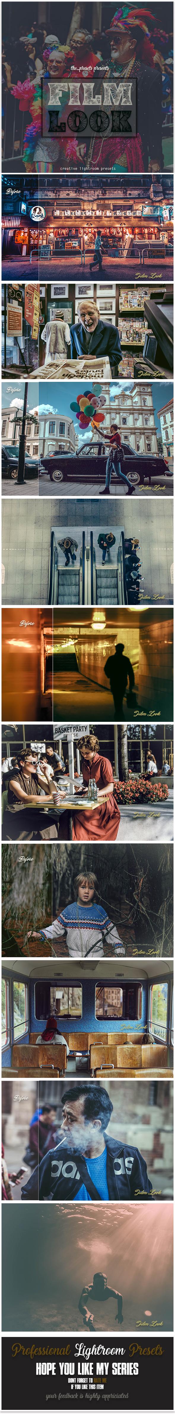 13 Film Look Lightroom Presets - Lightroom Presets Add-ons
