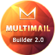 Multimail | Responsive Email Template with Template builder