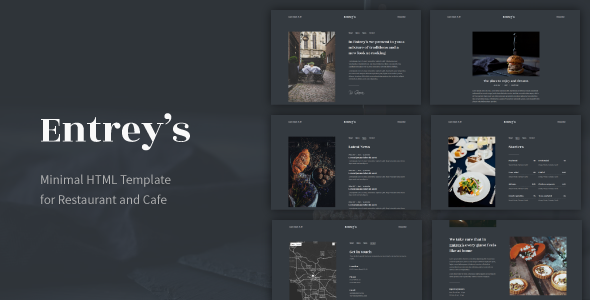 Restaurants cafes bootstrap 4 templates bootstrap4 entreys minimal html template for restaurant and cafe maxwellsz
