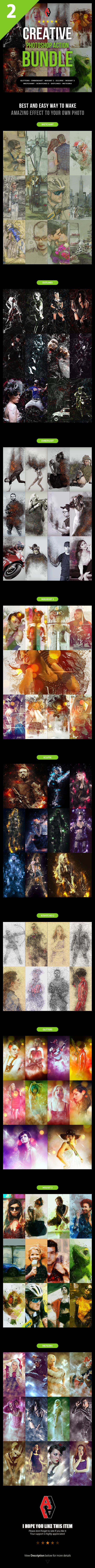 Creative Photoshop Action Bundle 2 - Photo Effects Actions