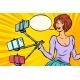 Selfie Stick Woman