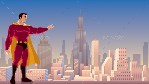 GraphicRiver Superhero Power in City 21059826