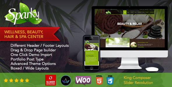 Sparky – Multipurpose Spa & Beauty WordPress Theme