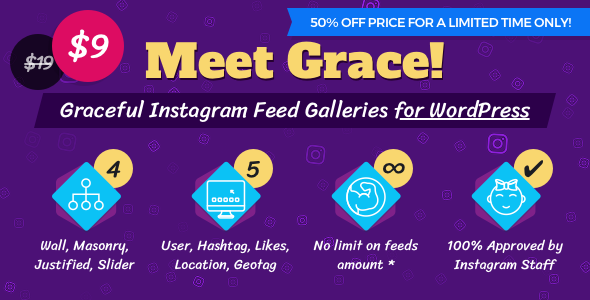 Instagram Feed Gallery — Grace for WordPress - CodeCanyon Item for Sale