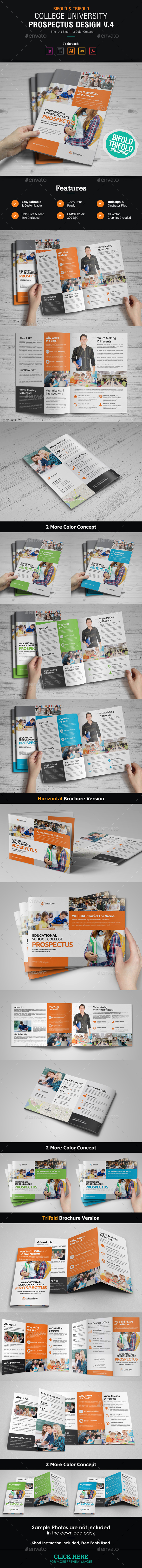 GraphicRiver College University Prospectus Brochure v4 21060170