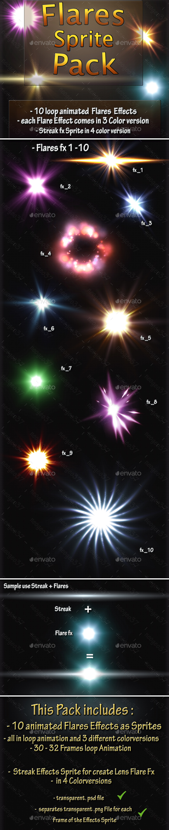 GraphicRiver Flares Effects 21060177
