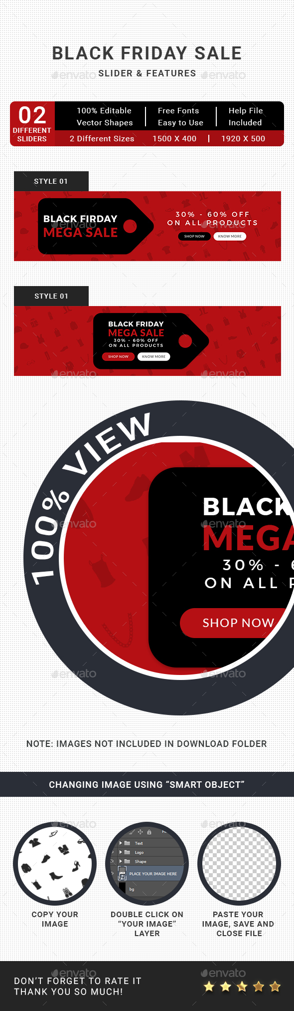 GraphicRiver Black Friday Sale Slider 21060342