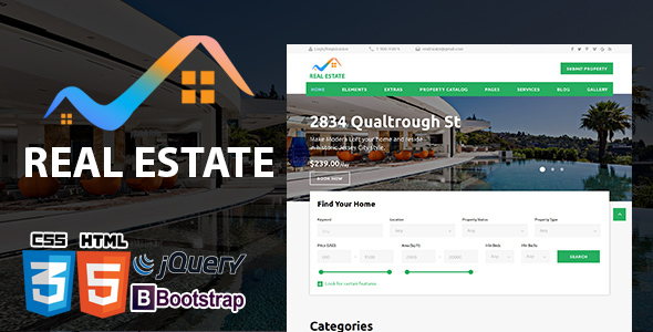 ThemeForest Real Estate Real Property HTML5 Template Responsive 21060452