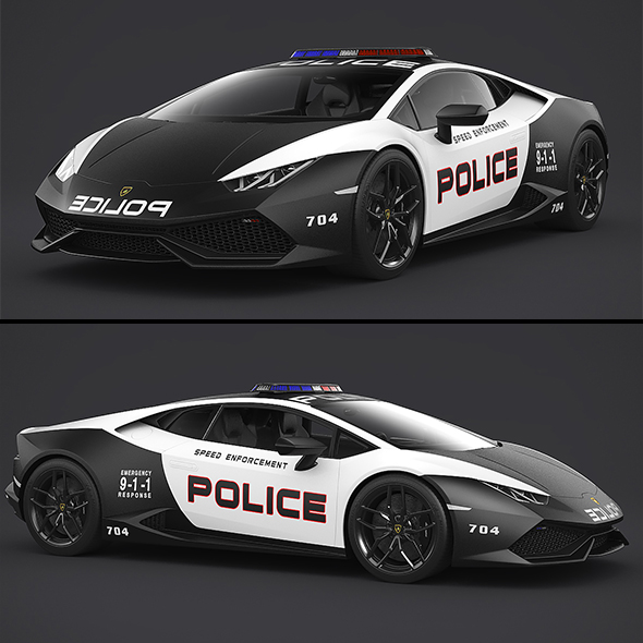 3DOcean Lamborghini Huracan Police 21060455