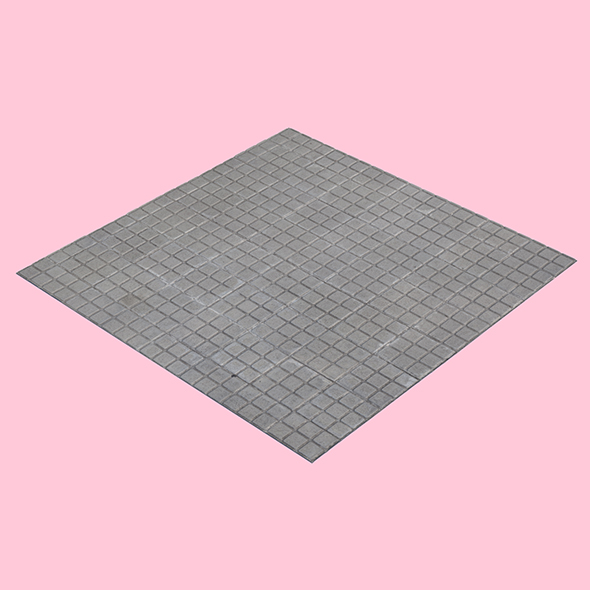 Square Tiled Sidewalk - 3DOcean Item for Sale