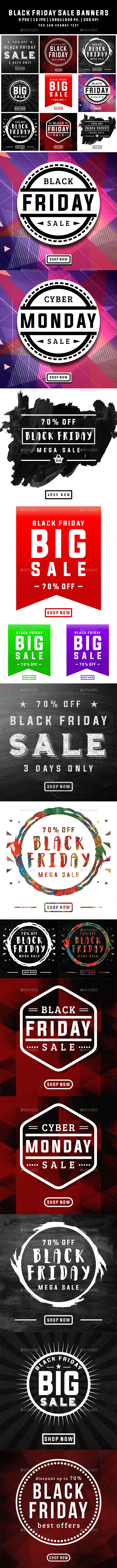 Black Friday Banners - Banners & Ads Web Elements